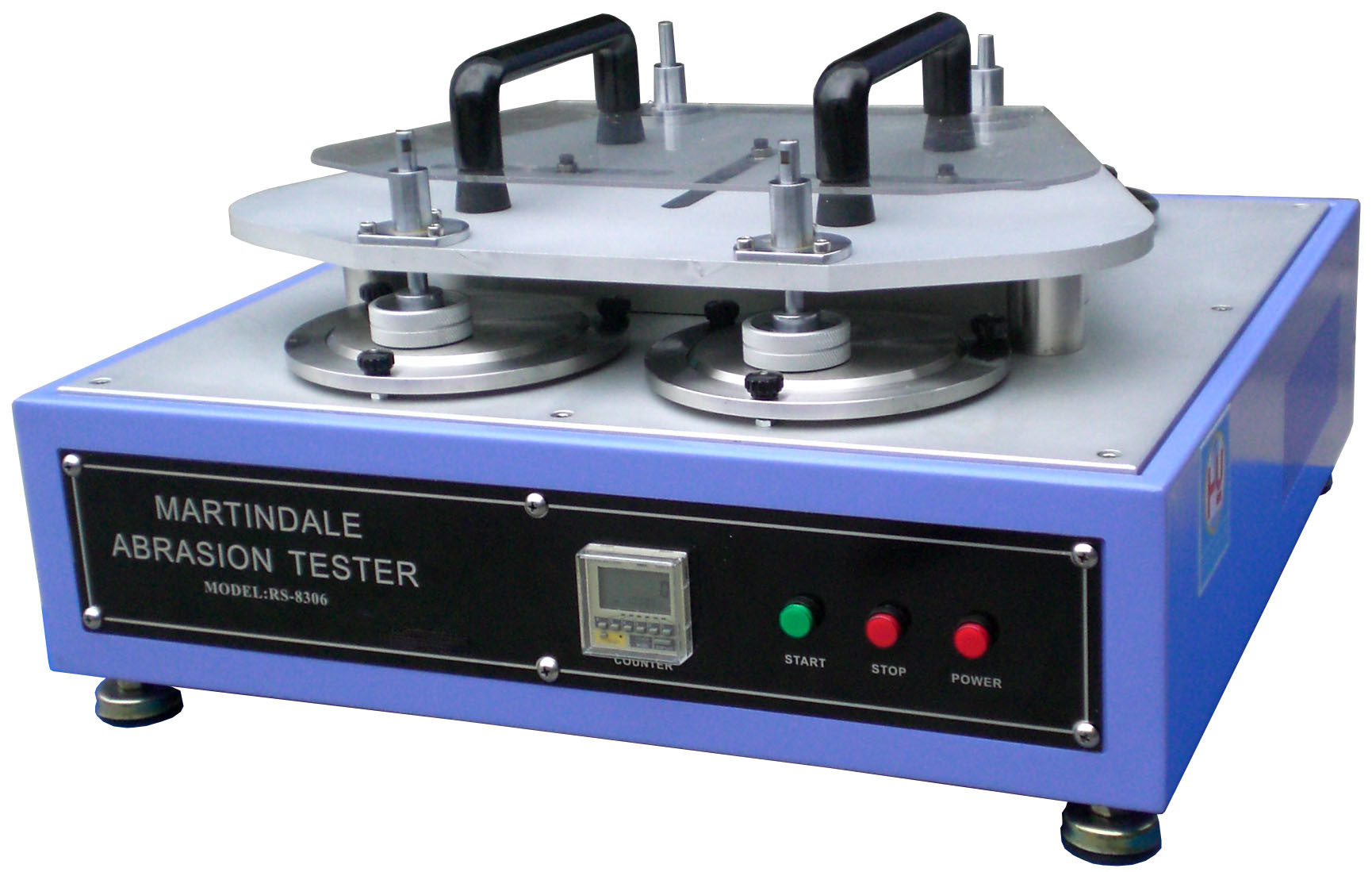 Quality Control Abrasion Testing Machine / Textile Fabric Martindale Abrasion Tester