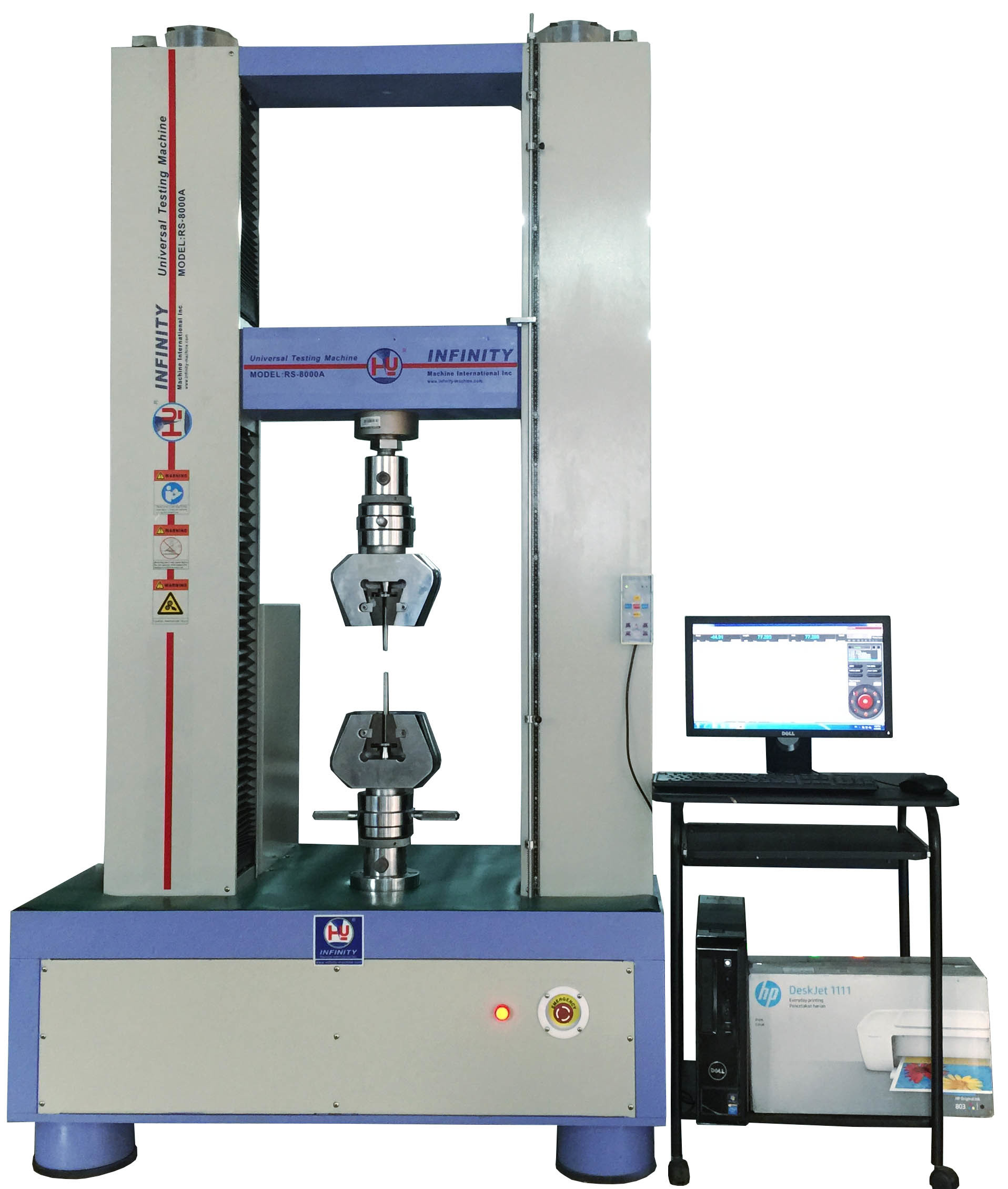 Industrial Electronic Tensile Tester , Rubber Tensile Testing Machine With Closed - Loop Control Software