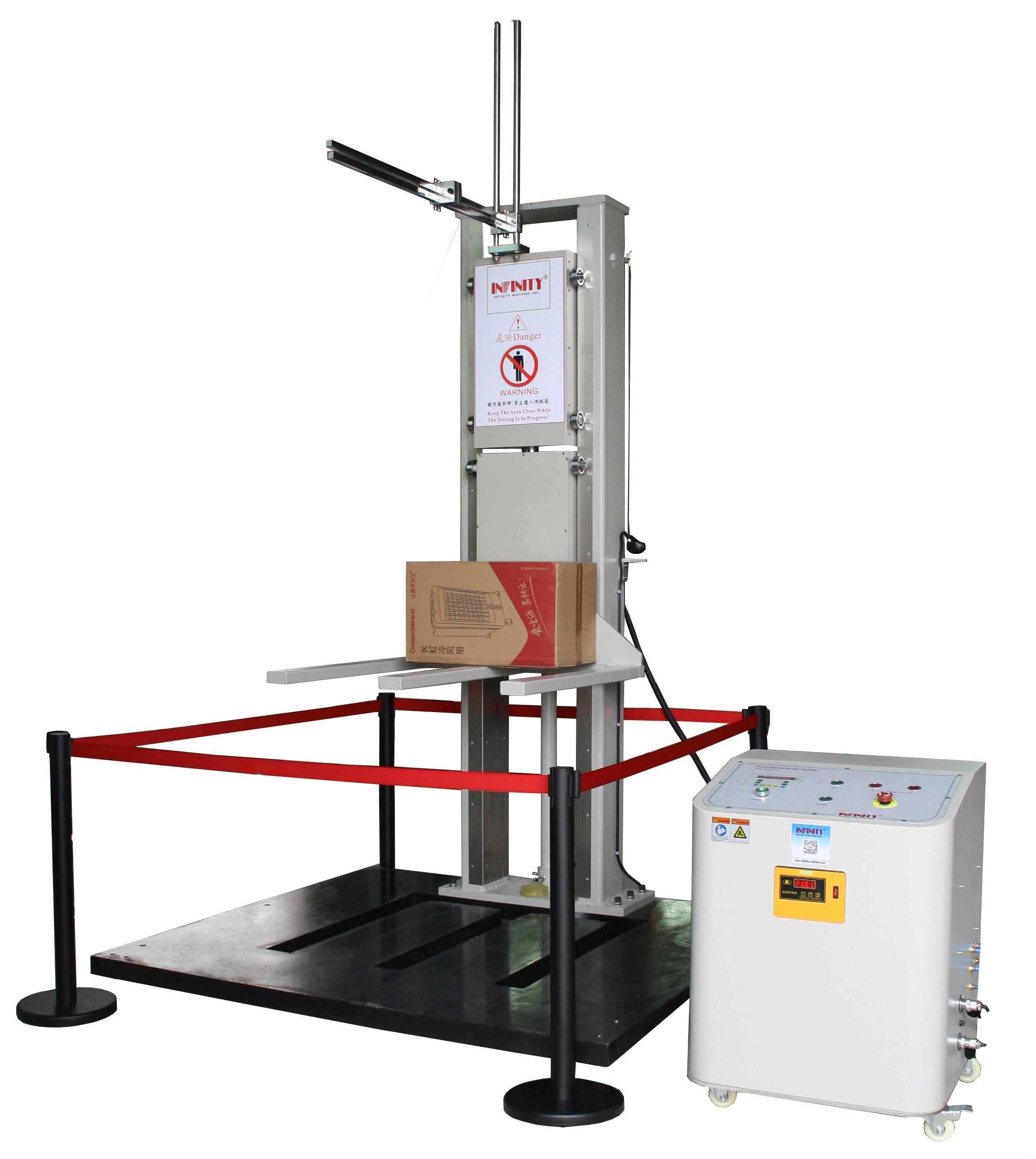 Double Track Drop Testing Machine , Drop Test Equipment for larger products