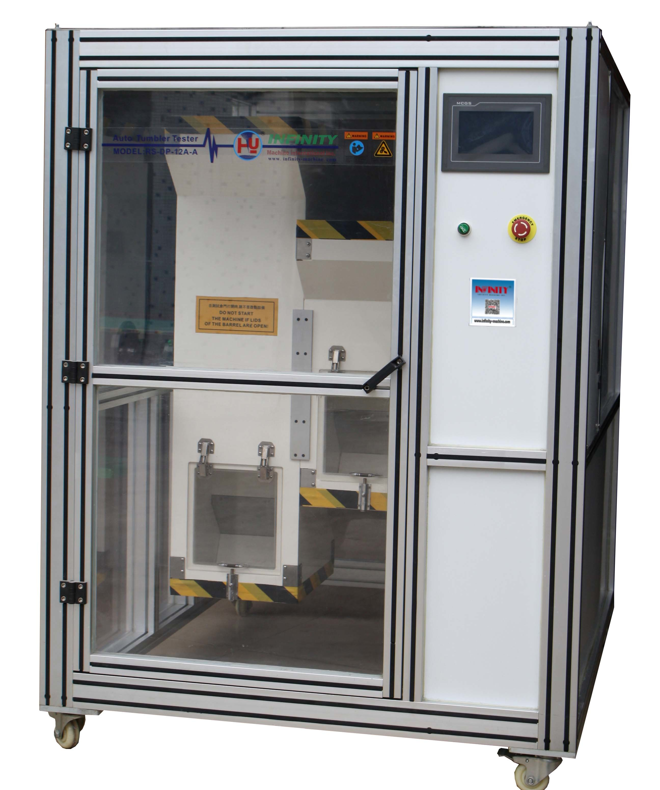 Touch Panel Tumble Tester Machine for Mobile Phone IEC60068-2-32 Computerized