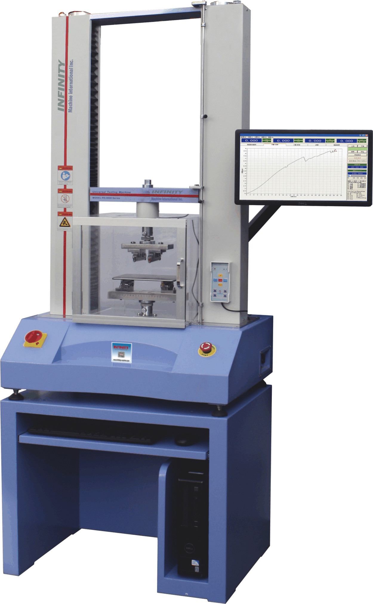 High Intelligence Electronic Universal Testing Machine For Glass / Ceramic
