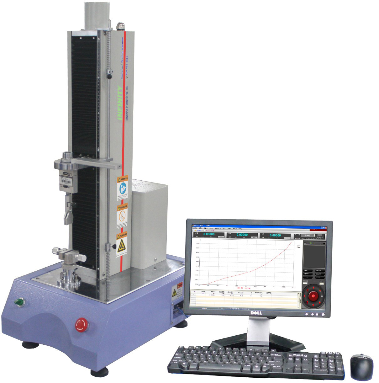 High Performance Electronic Universal Testing Machine For Adhesive Tape , AC220 V 5A