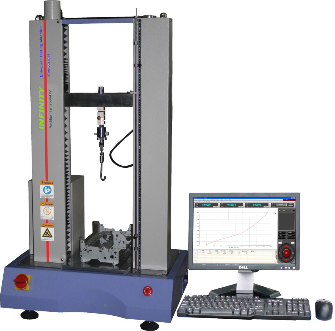 100N Rubber Tensile Testing Machine , Electronic Tensile Tester AC220V 5A